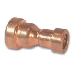 Vsh Tectite rechte verloopkoppeling 15x12 mm 2x push roodkoper Roodkoper 4758205