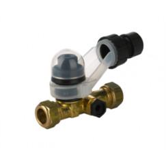 Vsh  eurobic inlaatcombinatie recht 15 mm. 2x knel  0312136