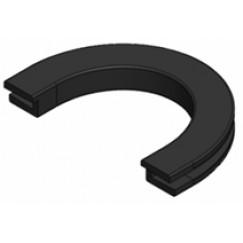 Guo Umea rubber los voor vloerwisser zwart Zwart