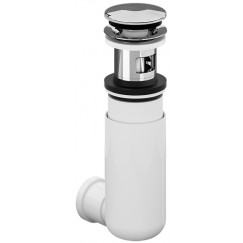 Villeroy & Boch  easyaccess sifon met push-open plug chroom Chroom 92198800