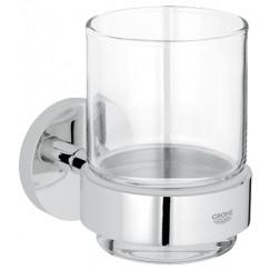 Grohe Essentials glashouder met glas chroom Chroom 40447001