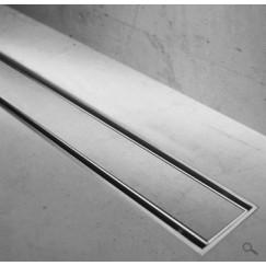 Easydrain Compact Taf Verlaagd douchegoot rooster 70 cm. v/tegeldikte 3-13 mm.rvs Rvs MTAFLAAG-700-T