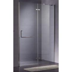 Novio Free Towel draaideur 90x200cm vast segm chroom-helder clean Chroom