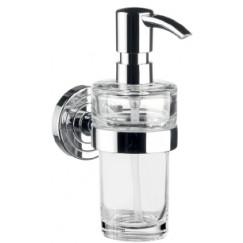 Emco Polo zeepdispenser met kristal glasdeel chroom Chroom 072100101
