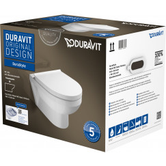 Duravit Durastyle wandcloset rimless pack met softclose zitting wit Wit 45620900A1