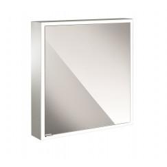 Emco Asis Prime spiegelkast 60 deur rechts-led verl.binnen witglas Wit 949706160