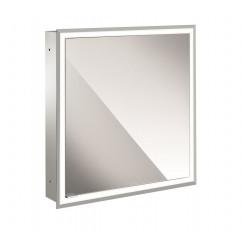 Emco Asis Prime inb.spiegelkast 60 1xdeur re.-led pakket witglas Wit 949706170