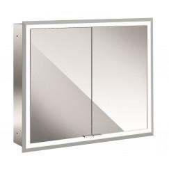 Emco Asis Prime inb.spiegelkast 80 2xdeur-led verl.binnen witglas