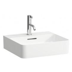 Laufen Val fontein 45x42 cm. 1x kraangat met overloop lcc wit Wit H8152814001041