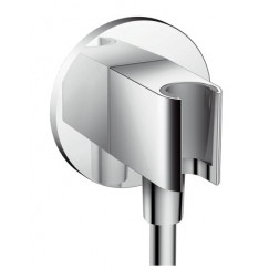 Hansgrohe Fixfit porter s handdouchehouder m/muuraansluitbocht chr. Chroom 26487000