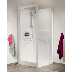 Kinedo Kineprime douchecabine 90x90+doucheb.24h.+therm.comb. helder  CA561TTN