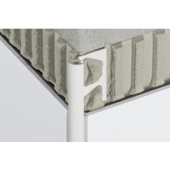 Schluter Rondec tegelprofiel buitenhoek zuiverwit 1stuks 10mm Zuiver Wit E/PRO100BW