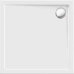 Novio Enna douchebak 80x80x3.5cm met rand wit Wit
