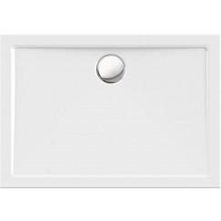 Novio Enna douchebak 120x90x3.5cm met rand wit Wit
