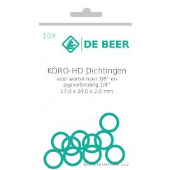 """De Beer  hd ring 1/4""""-3-8"""" 17x24x2,0 a 10 stuks  153804988"""