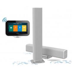 Aquasound  n-joy music-center controller m/lader+soundbar 25w Wit EMC45PRO-SB