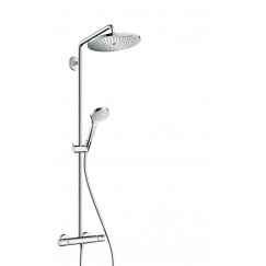 Hansgrohe Croma Select S 280 showerpipe met thermostaat ecosmart Chroom 26794000