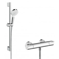 Hansgrohe Ecostat thermostaat+stang 65+crometta vario handd.wit-chr. Wit Chroom 27812400