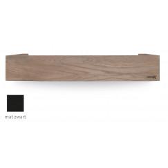 Looox Wood Collection shelf box 60 +bodemplaat mat zwart eiken-mat zwart Eiken Mat Zwart WSHBOX60MZ
