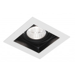 Novio Luuk led inbouw spot 5w 90x90 mm vierkant met trafo wit Wit