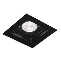 Novio Luuk led inbouw spot 5w 90x90 mm vierkant m trafo zwart Zwart