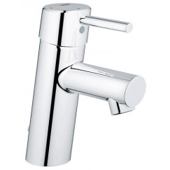 Grohe Concetto s-size wastafelkraan 28 mm. met ketting chroom Chroom 2338110E