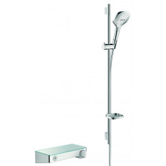 Hansgrohe Select Shower Tablet s300 met raindance s e120 douchecombinatie 90 cm. Wit-chroom 27027400