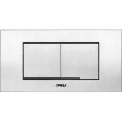 Wisa Xt kantos front/top bedieningsplaat dualflush steel Steel 8050419001