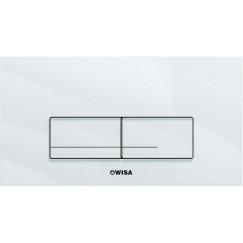 Wisa Xt bedieningsplaat front-planchet glas wit Wit 8050421201