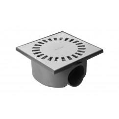 Easydrain Aqua Compact vloerput abs 15x15cm waterslot 50mm rvs Rvs AQUACOM50-15x15