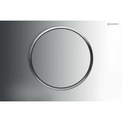 Geberit Sigma 10 bedieningsplaat kleuren:plaat-ring-knop Chroom-matchroom-chroom 115.758.KH.5