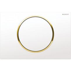 Geberit Sigma 10 bedieningsplaat kleuren:plaat/ring/knop Wit-goud-wit 115.758.KK.5