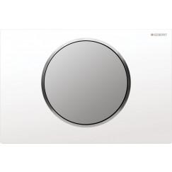 Geberit Sigma 10 bedieningsplaat kleuren:plaat/ring/knop Wit-mat-mat 115.758.KL.5
