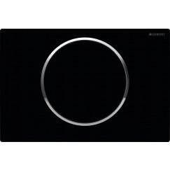 Geberit Sigma 10 bedieningsplaat kleuren:plaat/ring/knop Zwart-chroom-zwart 115.758.KM.5