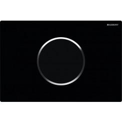 Geberit Sigma 10 bedieningsplaat infrarood netvoeding 230v Zwart-chroom-zwart 115.907.KM.1