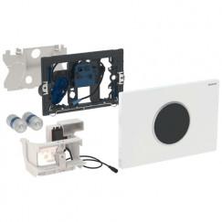 Geberit Sigma 10 bedieningsplaat infrarood batterij Wit-chroom-wit 115.908.KJ.1