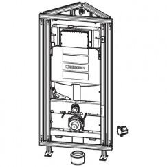 Geberit Gis Easy sigma hoekmontage inbouwreservoir h120 cm.b.60cm.  442.029.00.5