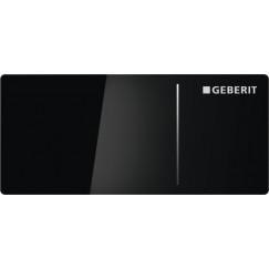 Geberit Omega70 bedieningsplaat voor reservoir 12 cm. Glas Zwart-aluminium 115.083.SJ.1