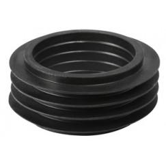 Geberit  euronorm closetsteekverbinder 55x44 zwart zwart Zwart 119.668.00.1