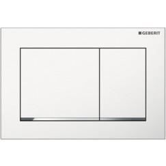 Geberit Omega 30 bedieningsplaat front-planchet wit chroom wit Wit Chroom Wit 115.080.KJ.1