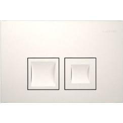 Geberit Delta 50 bedieningsplaat dual flush frontbediening wit Wit 115135111