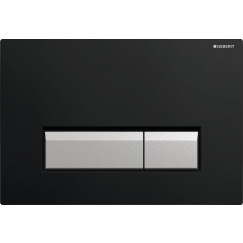 Geberit Sigma 40 bed.plaat m/geurafz.set+blokjeshouder zwart-alum. Zwart Aluminium 115.600.KR.1