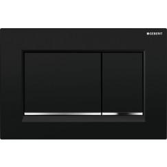 Geberit Sigma 30 bed.plaat kleuren:plaat-strip-knop zwart-chr-zwart Zwart Chroom Zwart 115.883.KM.1