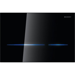 Geberit Sigma 80 bedieningsplaat electronisch 230v glas zwart Zwart 116.090.SG.1
