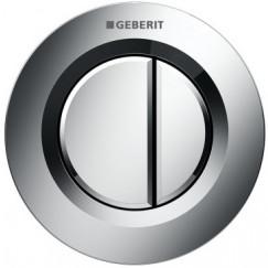 Geberit Type 01 2-knops pneumatische inbouw drukker Chroom 116.042.21.1