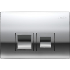 Geberit Delta 50 bedieningsplaat dual flush frontbediening chr. Chroom 115135211