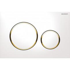 Geberit Sigma 20 bedieningsplaat kleuren:plaat-ring-knop wit goud Wit Goud 115.882.KK.1