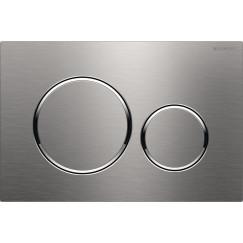 Geberit Sigma 20 bed.plaat kleuren:plaat-ring-knop rvs geborsteld Rvs Geborsteld 115.882.SN.1
