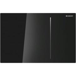Geberit Sigma 70 bed.plaat frontbed.inb.reserv.12cm.glas zwart-alu. Glas Zwart-aluminium 115.620.SJ.1