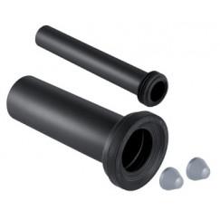 Novio Divers closet aansluitset verlengd 300 mm. zwart Zwart